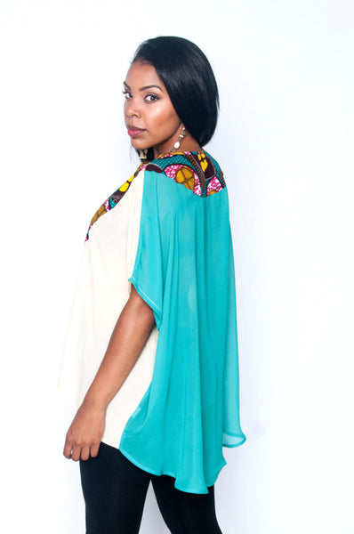Shop Kuwala for the Elorm top (teal) by Ajepomaa Design Gallery
