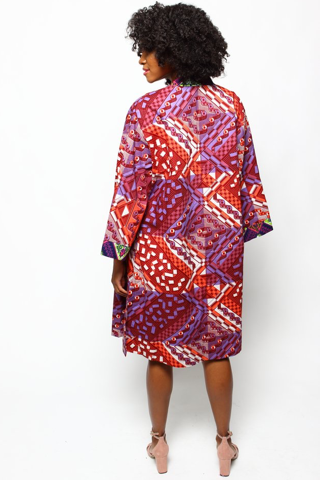 Shop Kuwala.co for the Fatima Duster (Tropical Punch) by suakoko betty