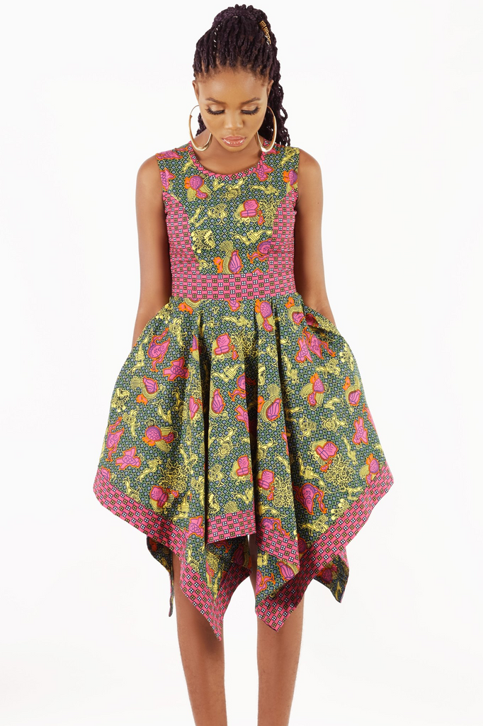 Shop Kuwala.co for the Handkerchief Hem Dress (Pink) by KIKI Clothing