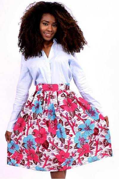 Shop Kuwala.co for the Flowery Midi Skirt (Pink) by Bebe Rose