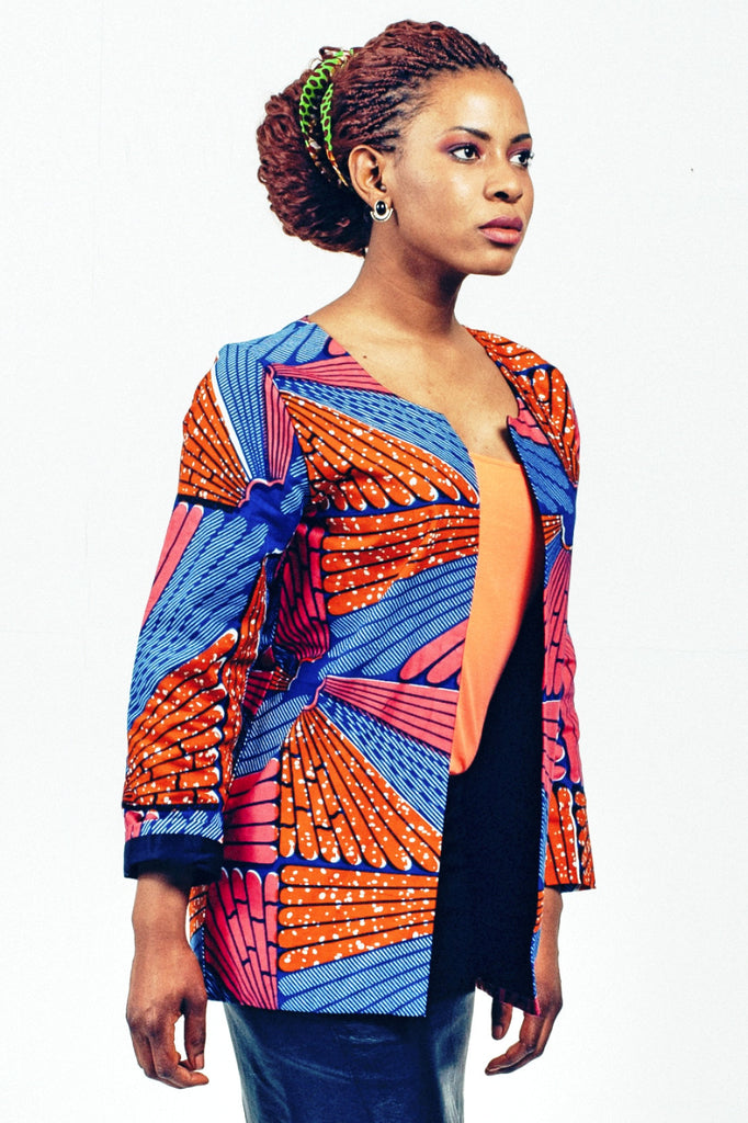Shop Kuwala.co for the Fosu Blazer (Orange) by Atelier D'Afrique
