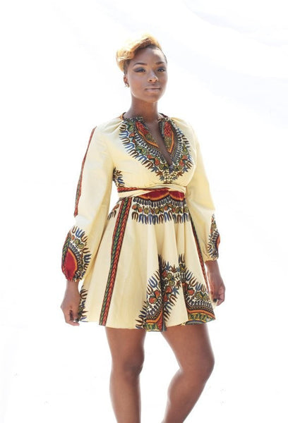 Shop at Kuwala for the Zhara Dress (Cream) by Asikere Afana - 3