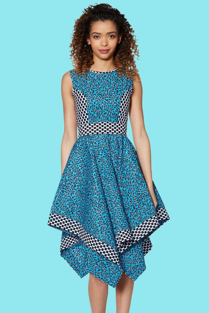 Shop Kuwala.co for the Handkerchief Hem Dress (Blue) by KIKI Clothing