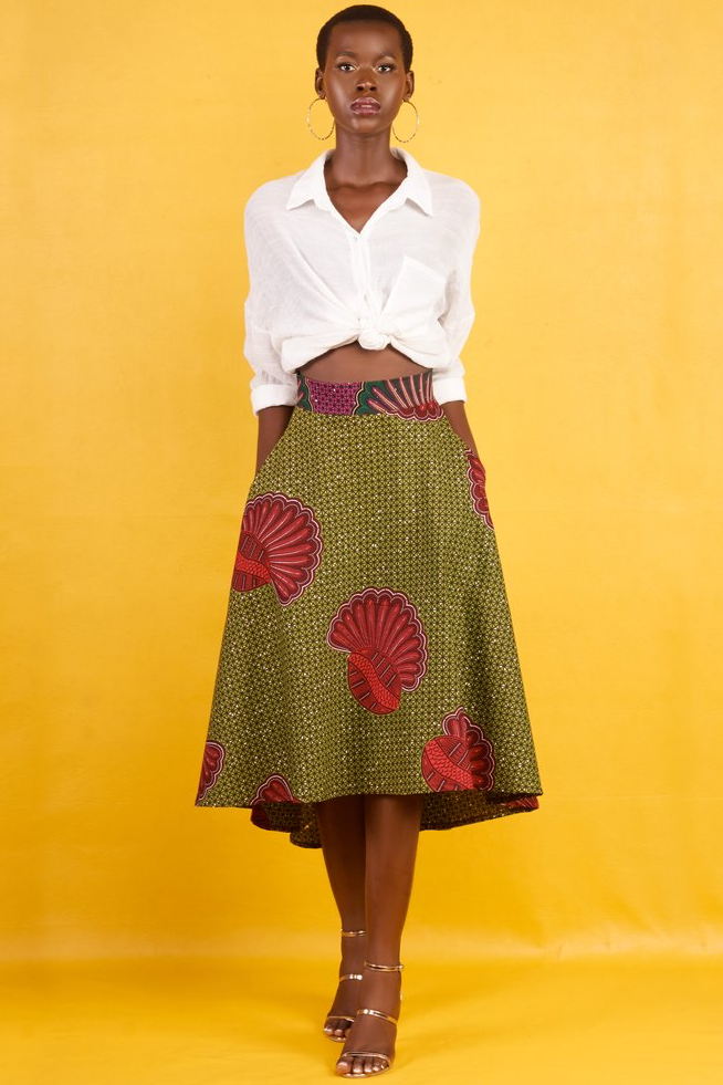 Shop Kuwala.co for the Shell High Low Skirt by KIKI Clothing