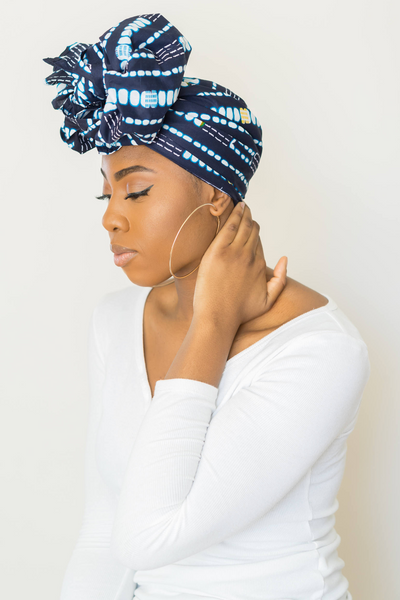 Shop Kuwala.co for the Indigo Headwrap by Thrifty Upenyu