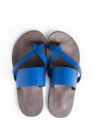 Shop at Kuwala for the Kriss Kross Sandal (Electric Blue) by KIKI Clothing - 1