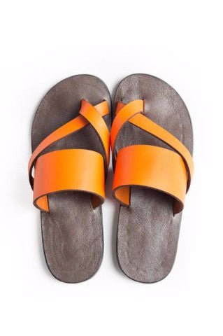 Shop Kuwala for the Kriss Kross Sandal (Vibrant Orange) by KIKI Clothing