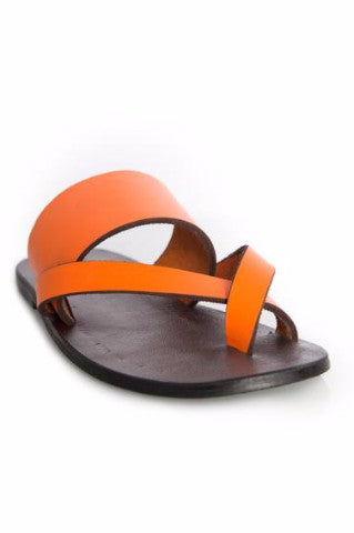 Kriss Kross Sandal (Vibrant Orange) - Kuwala