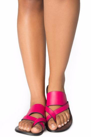 Shop Kuwala for the Kriss Kross Sandal (Hot Pink) by KIKI Clothing