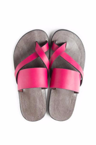 Shop at Kuwala for the Kriss Kross Sandal (Hot Pink) by KIKI Clothing - 1