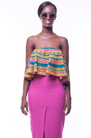 Shop Kuwala.co for the Lara Crop Blouse by Poqua Poqu