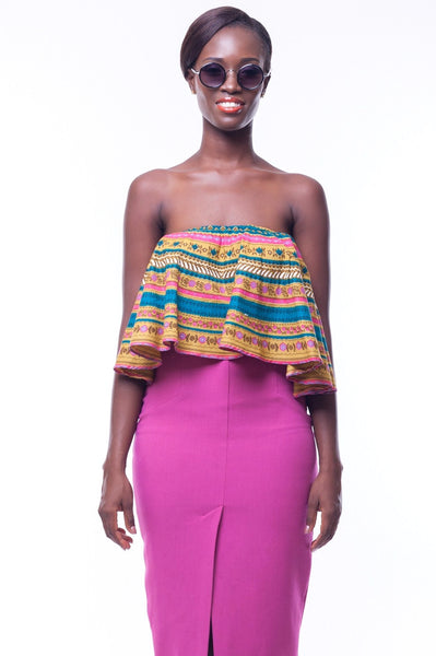 Shop at Kuwala for the Lara Crop Blouse by Poqua Poqu - 1