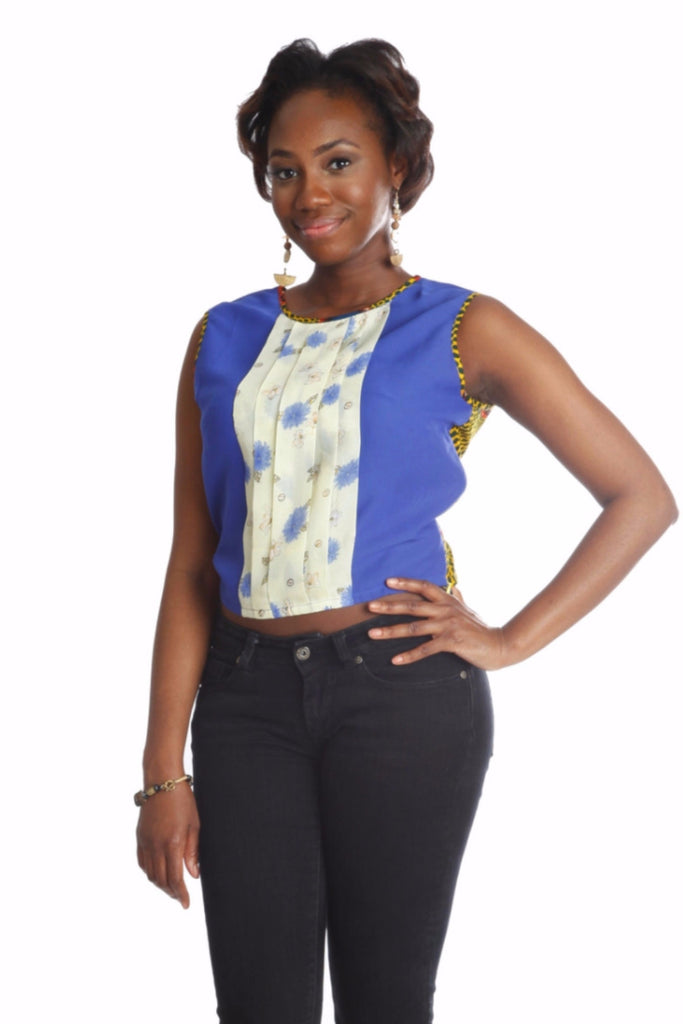 La-Ijeoma Crop-top (Blue) - Kuwala