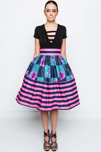 Shop Kuwala.co for the Lola Kitty Striped Skirt by Kaela Kay