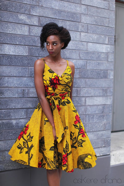 Shop at Kuwala for the Lola Midi Circle Skirt (Gold) by Asikere Afana - 2
