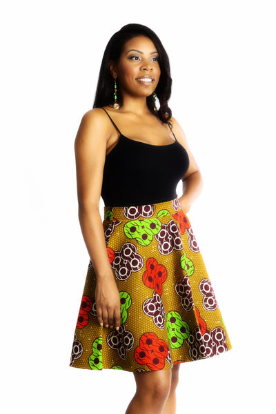Shop Kuwala.co for the Ofeibea Skirt (brown) by Ajepomaa Design Gallery