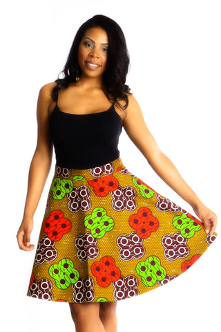 Shop Ofeibea Skirt (brown) by Ajepomaa Design Gallery at Kuwala