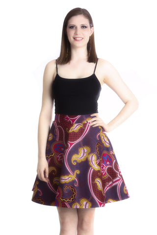 Shop at Kuwala for the Ofeibea Skirt (purple) by Ajepomaa Design Gallery - 1