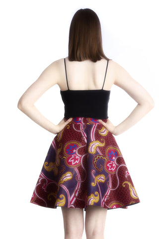 Shop Ofeibea Skirt (purple) by Ajepomaa Design Gallery at Kuwala