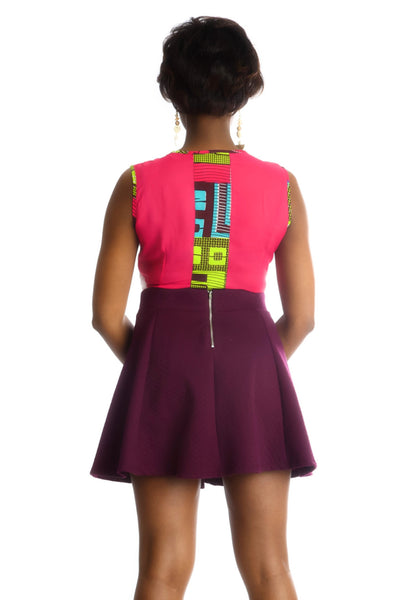 Shop at Kuwala for the Fe-Ijeoma Crop-top (White/Pink) by Ajepomaa Design Gallery - 3
