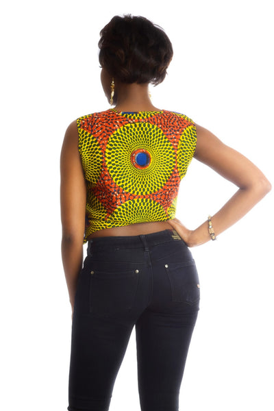Shop at Kuwala for the La-Ijeoma Crop-top (Blue) by Ajepomaa Design Gallery - 3