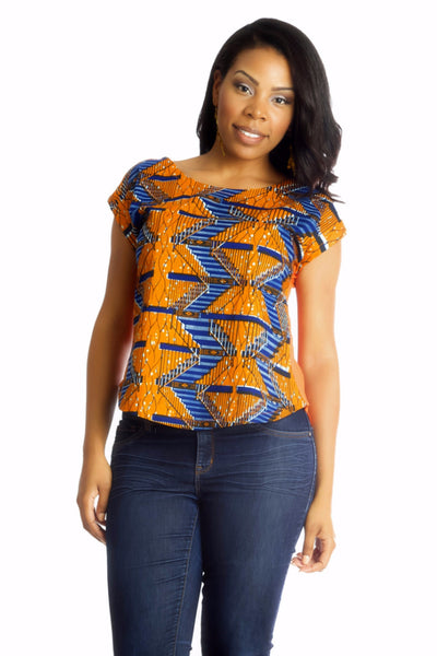 Shop Kuwala.co for the Africhiffon Top (Closed back) by B'venaj
