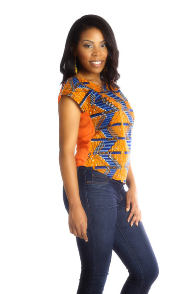 Shop Kuwala for the Africhiffon Top (Closed back) by B'venaj