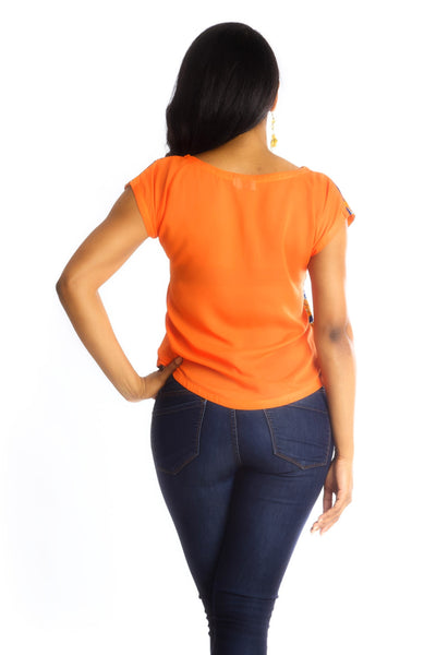 Shop at Kuwala for the Africhiffon Top (Closed back) by B'venaj - 3