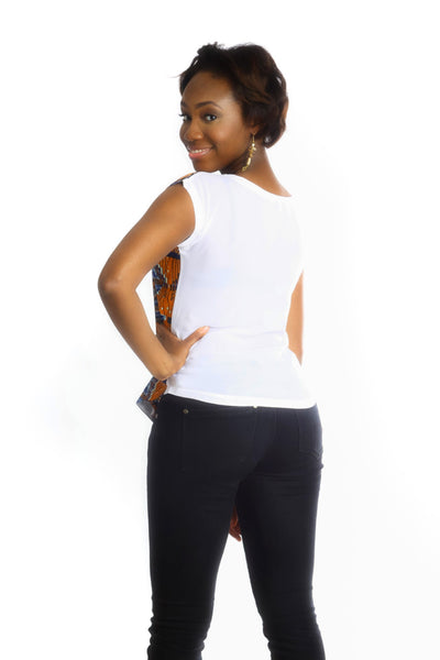 Shop at Kuwala for the Africhiffon Top (Closed back) by B'venaj - 4