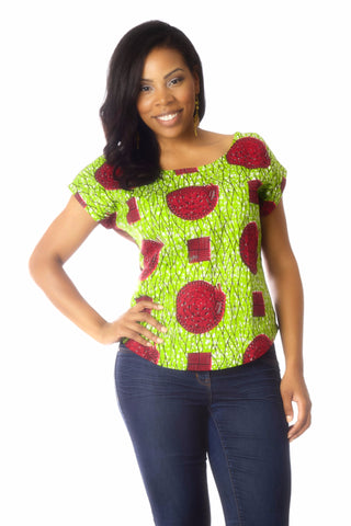 Shop at Kuwala for the Africhiffon Top (Open Back) by B'venaj - 1
