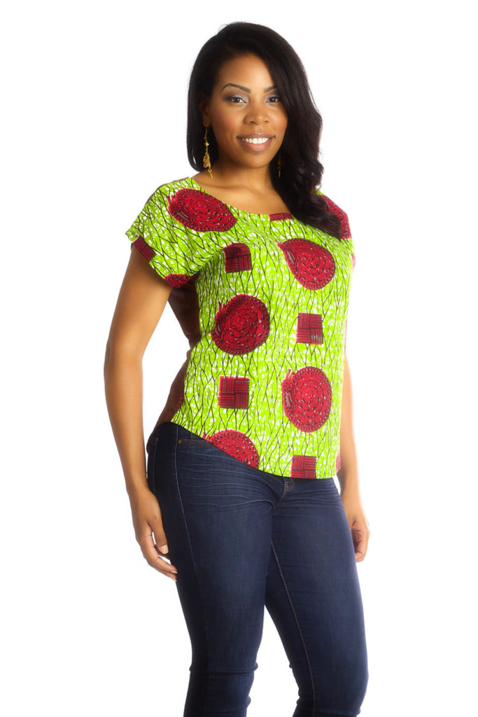 Shop Kuwala.co for the Africhiffon Top (Open Back) by B'venaj