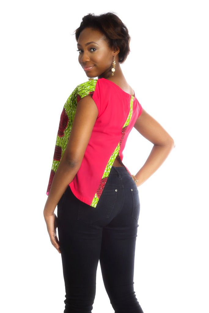 Africhiffon Top (Open Back) - Kuwala