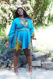 Shop at Kuwala for the Zhara Dress (Aqua Blue) by Asikere Afana - 1