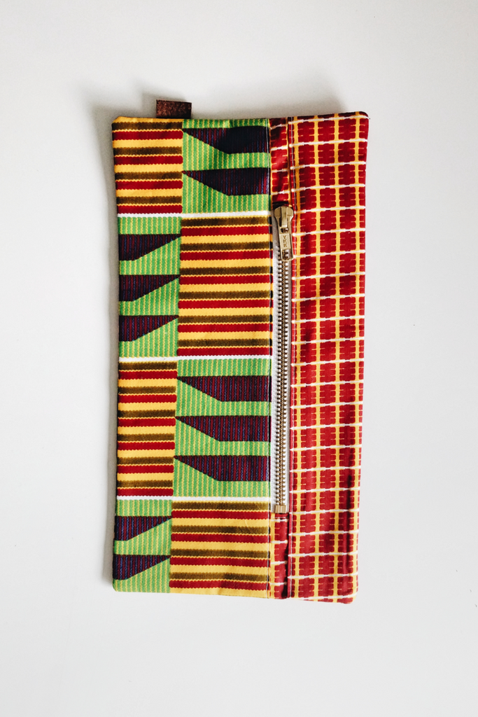 Shop Kuwala.co for the Cherie Makeup Bag (kente) by PAPAYA & CO
