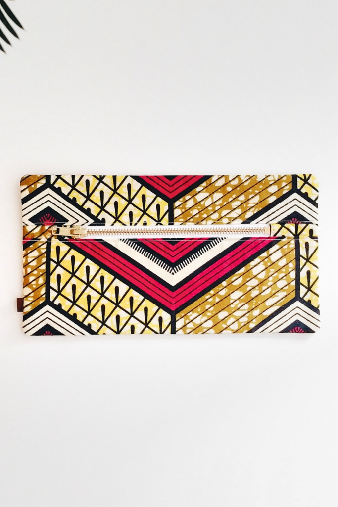 Shop Kuwala.co for the Cherie Makeup Bag (geometric) by PAPAYA & CO