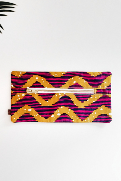 Shop Kuwala.co for the Cherie Makeup Bag (waves) by PAPAYA & CO