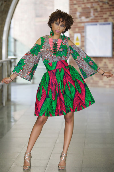 Shop Kuwala for the Marie Ankara Print Skirt by Gitas Portal
