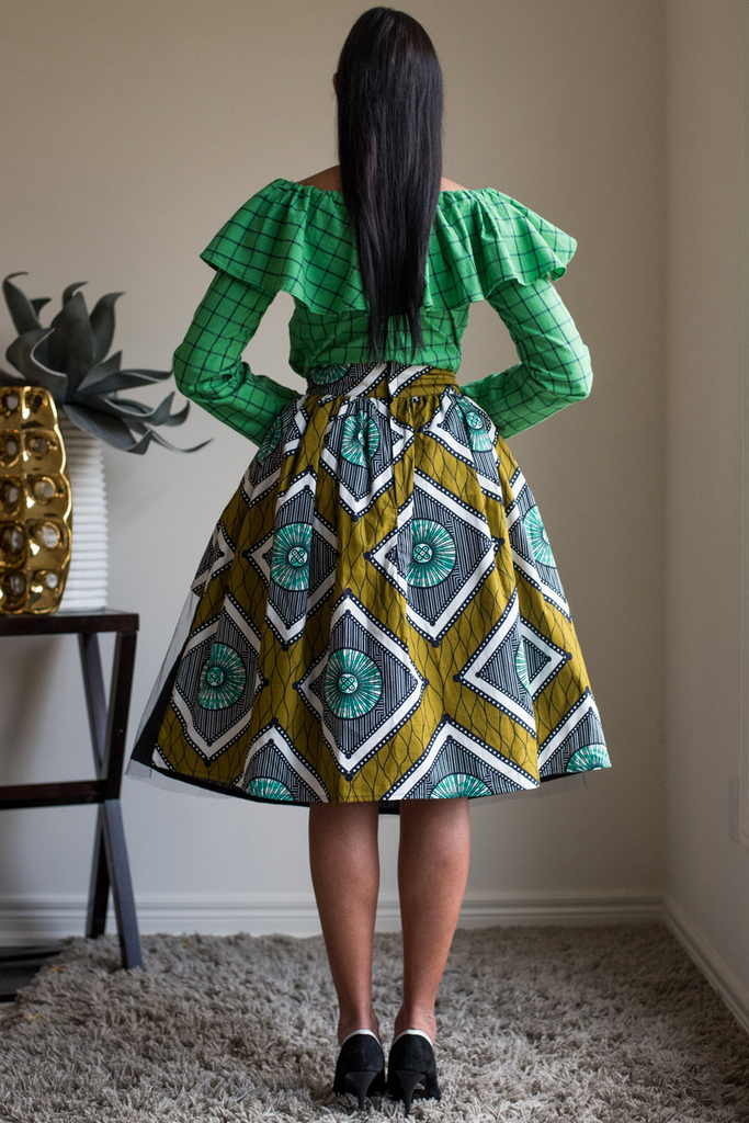Shop Kuwala.co for the Maya Tulle Skirt (green) by Kaela Kay
