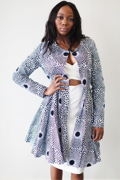 Shop Nairobi Ankara Jacket (Nsu Bura) by Omi Woods at Kuwala