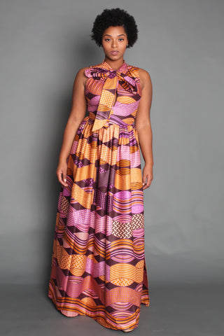 Shop Pauline Sleeveless Maxi Dress by Omi Woods at Kuwala