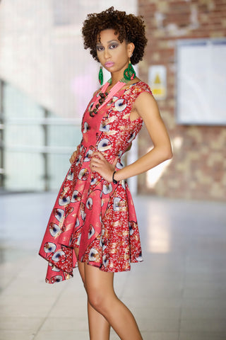 Shop at Kuwala for the Ankara Rebekah Dress (Pink) by Gitas Portal - 1