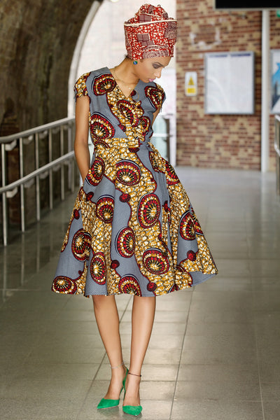 Shop Kuwala for the Queen Ankara Wrap Dress by Gitas Portal