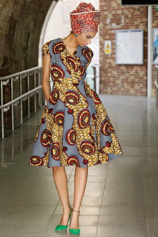 Shop at Kuwala for the Queen Ankara Wrap Dress by Gitas Portal - 1