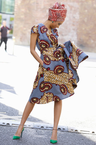 Shop at Kuwala for the Queen Ankara Wrap Dress by Gitas Portal - 2