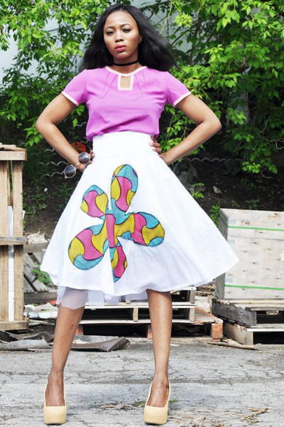 Shop Kuwala.co for the Splash Print Skirt by ZNAK DESIGNS