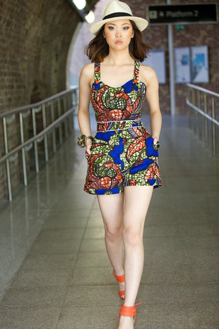 Shop Kuwala for the TIYANA African print playsuit by Gitas Portal