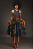 Shop Kuwala.co for the Tinaye Criss-Cross top and Midi skirt by House of uBuhle