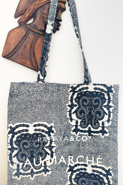 Shop Kuwala for the Au Marché Tote Bag (blue) by PAPAYA & CO