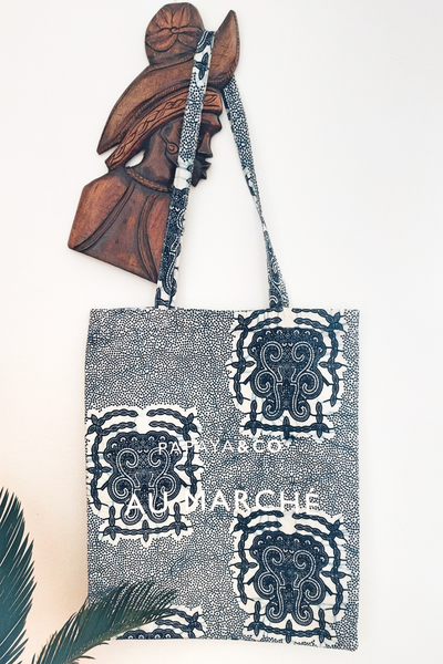 Shop Kuwala.co for the Au Marché Tote Bag (blue) by PAPAYA & CO