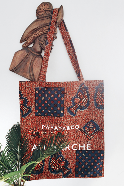 Shop Kuwala.co for the Au Marché Tote Bag (brown) by PAPAYA & CO
